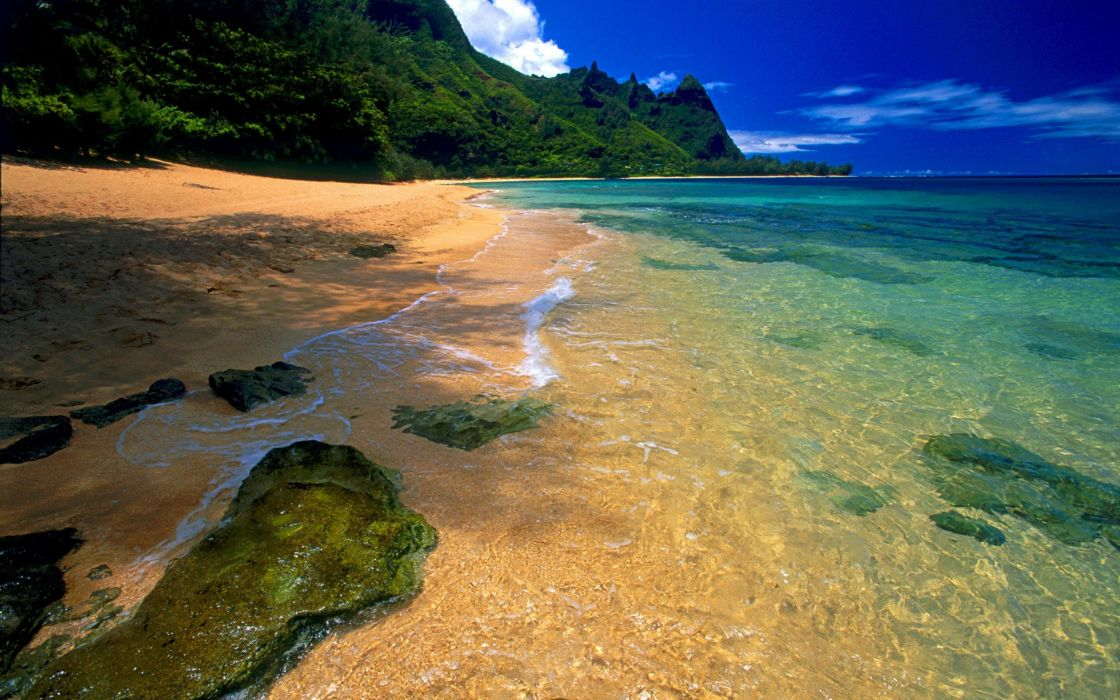 landscapes yellow beaches wallpaper