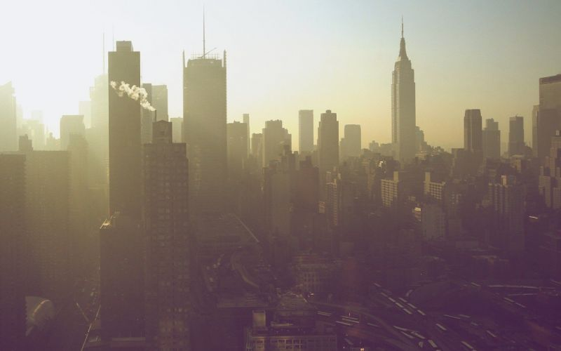 cityscapes smog wallpaper