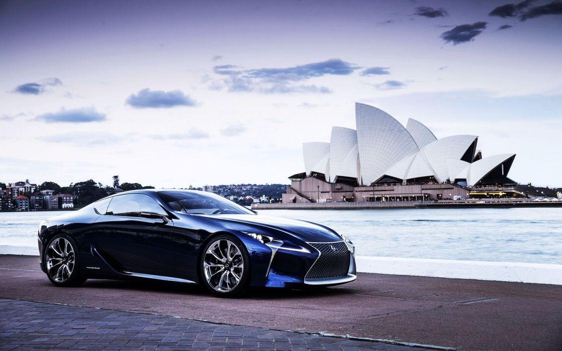 cars Lexus vehicles Australia Sydney Opera House Lexus LF-LC wallpaper