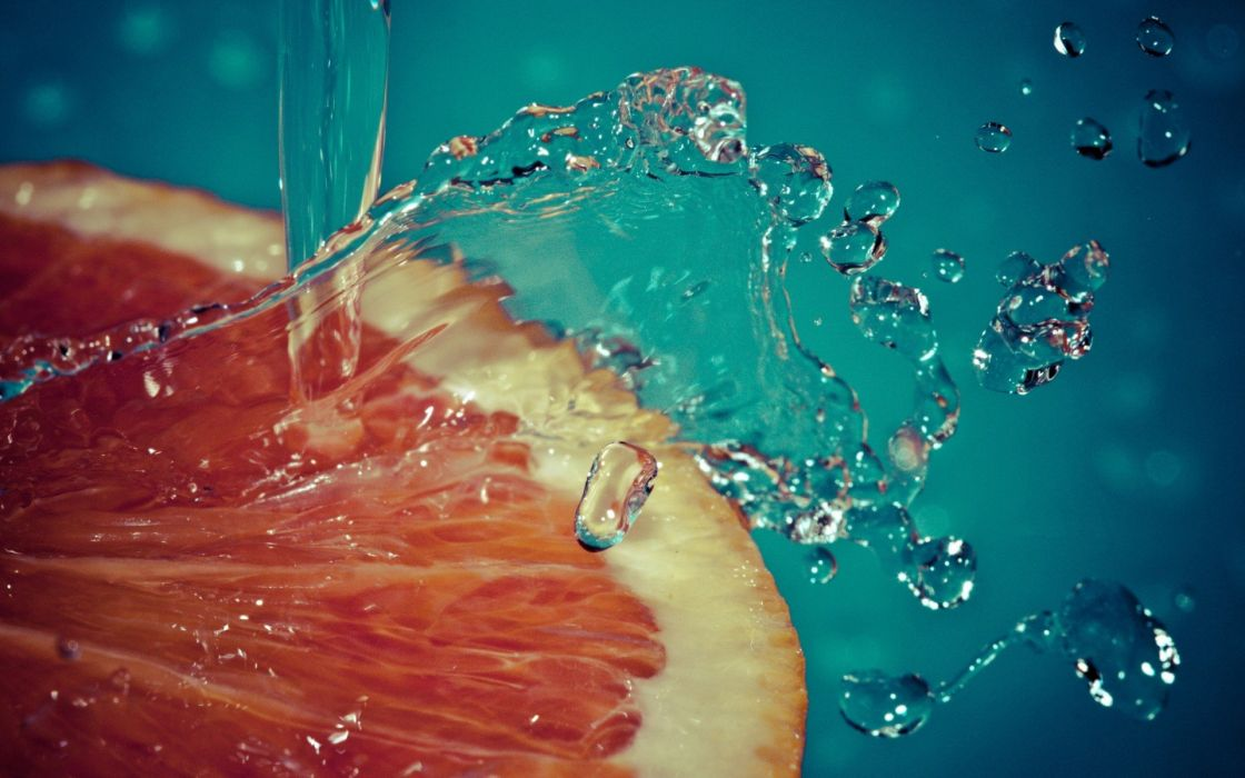 water oranges macro slow motion splashes wallpaper