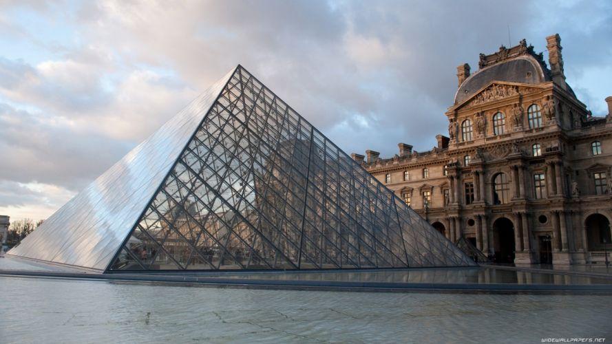 Paris cityscapes travel Louvre museum wallpaper