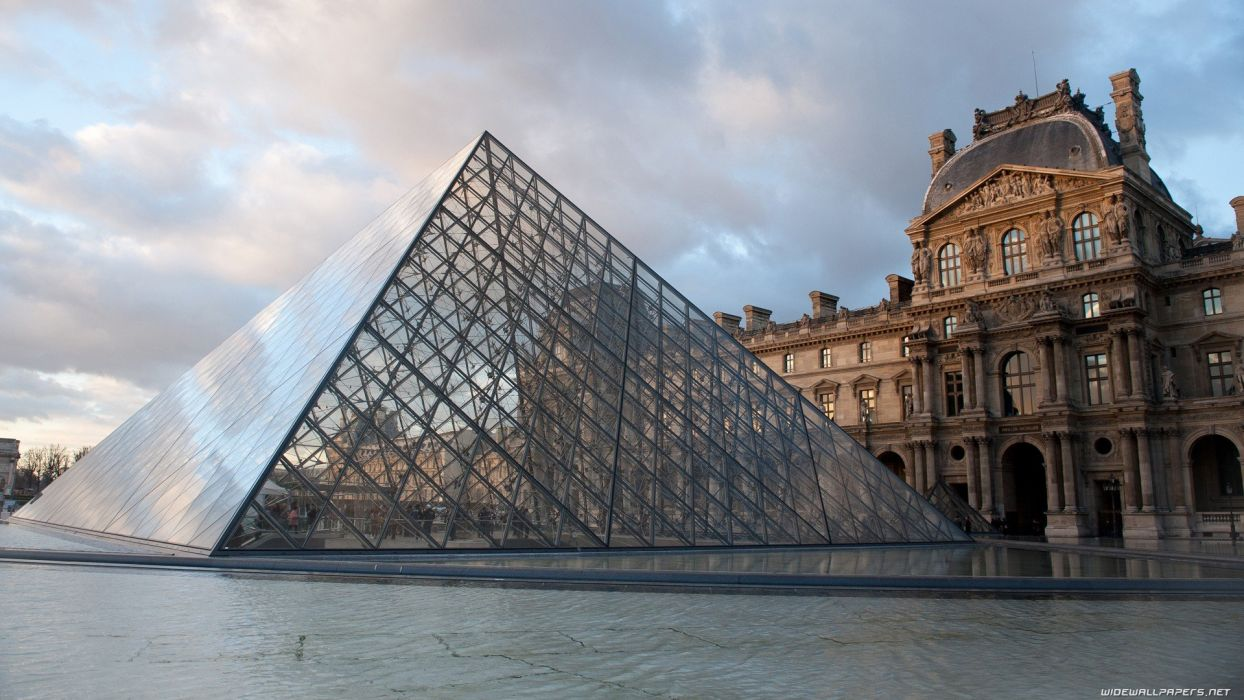 Paris cityscapes travel Louvre museum wallpaper