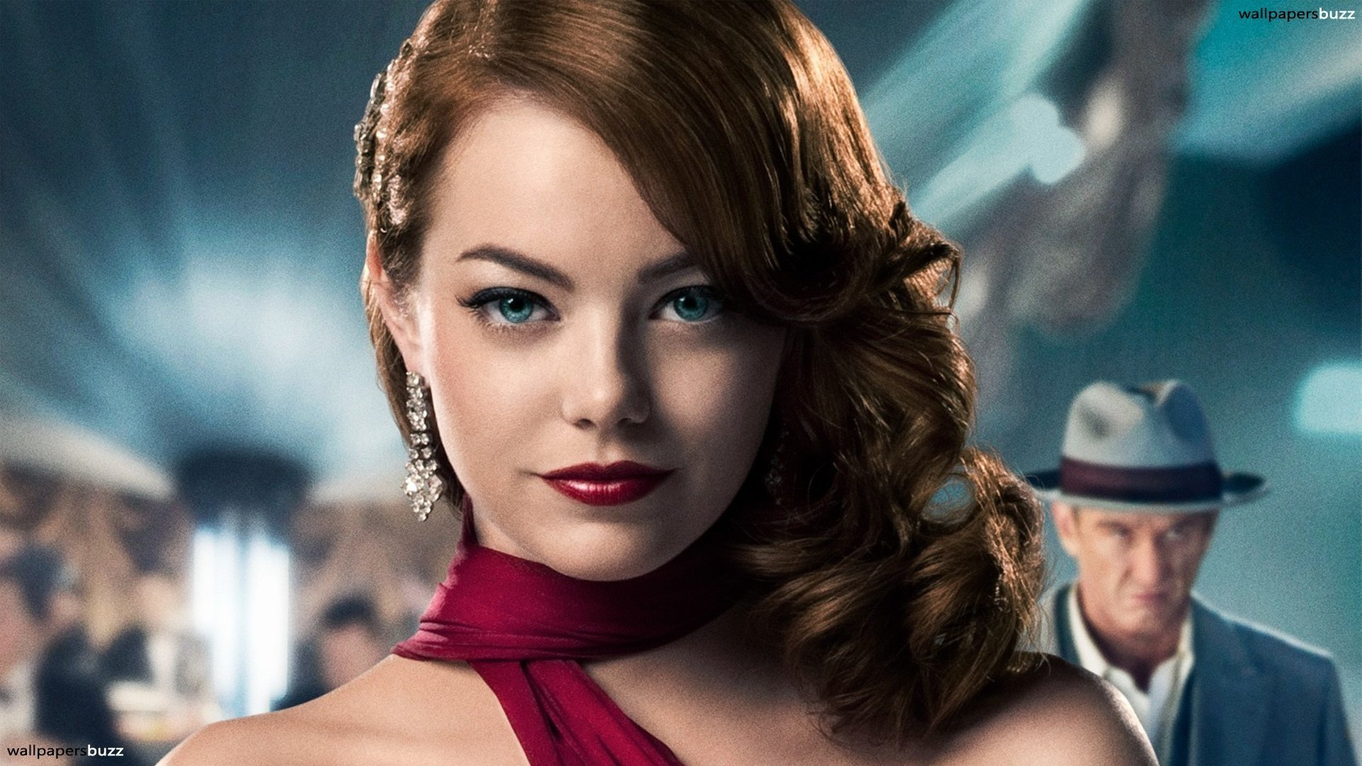 Women Actress Emma Stone Gangster Squad Movie Wallpaper