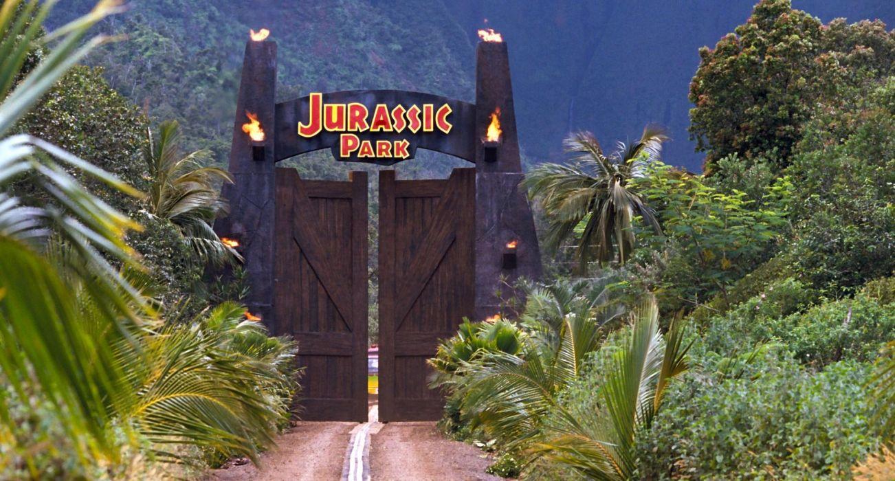 JURASSIC PARK adventure sci-fi fantasy dinosaur movie film poster jungle wallpaper