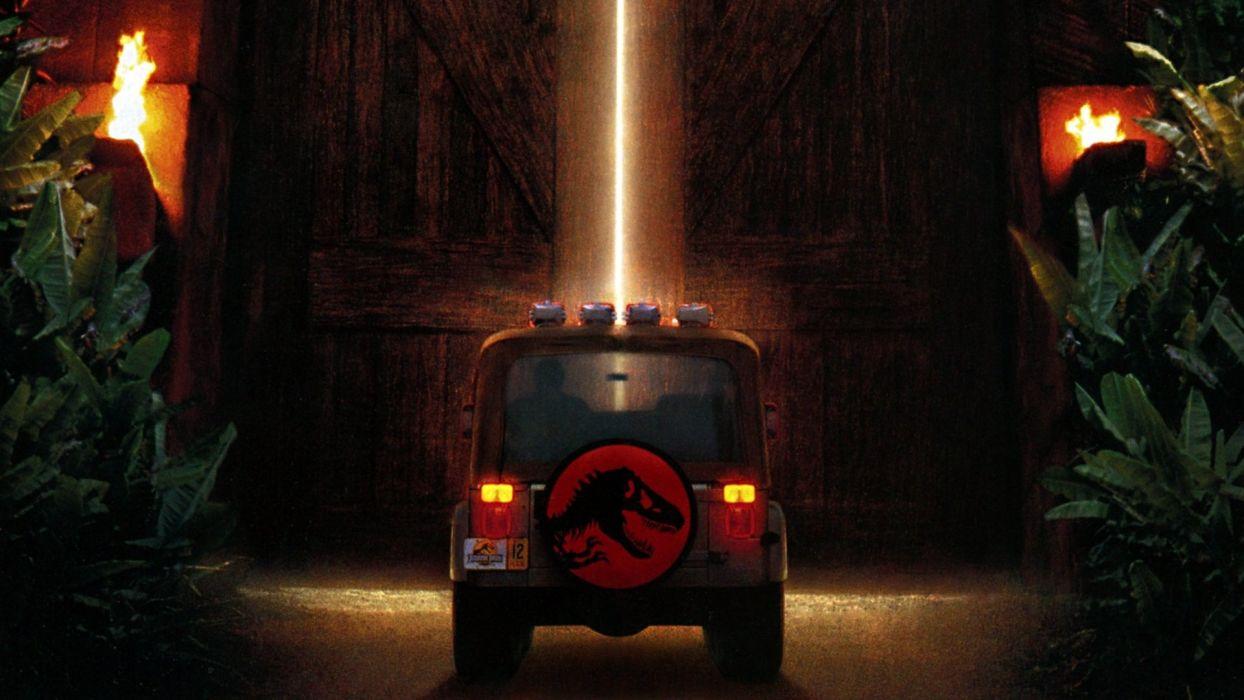 JURASSIC PARK adventure sci-fi fantasy dinosaur movie film jeep poster wallpaper
