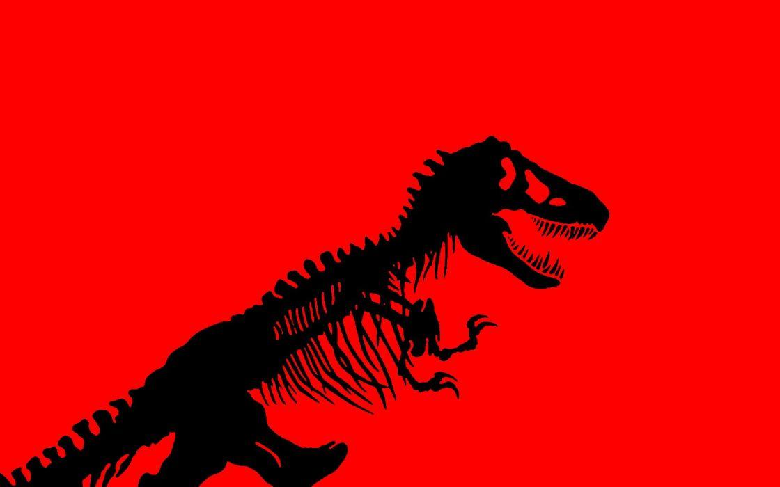 JURASSIC PARK adventure sci-fi fantasy dinosaur movie film dark skeleton skull wallpaper