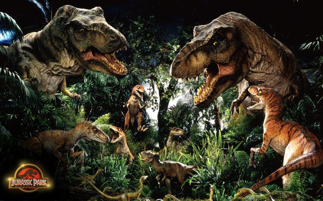 JURASSIC PARK adventure sci-fi fantasy dinosaur movie film poster jungle forest wallpaper