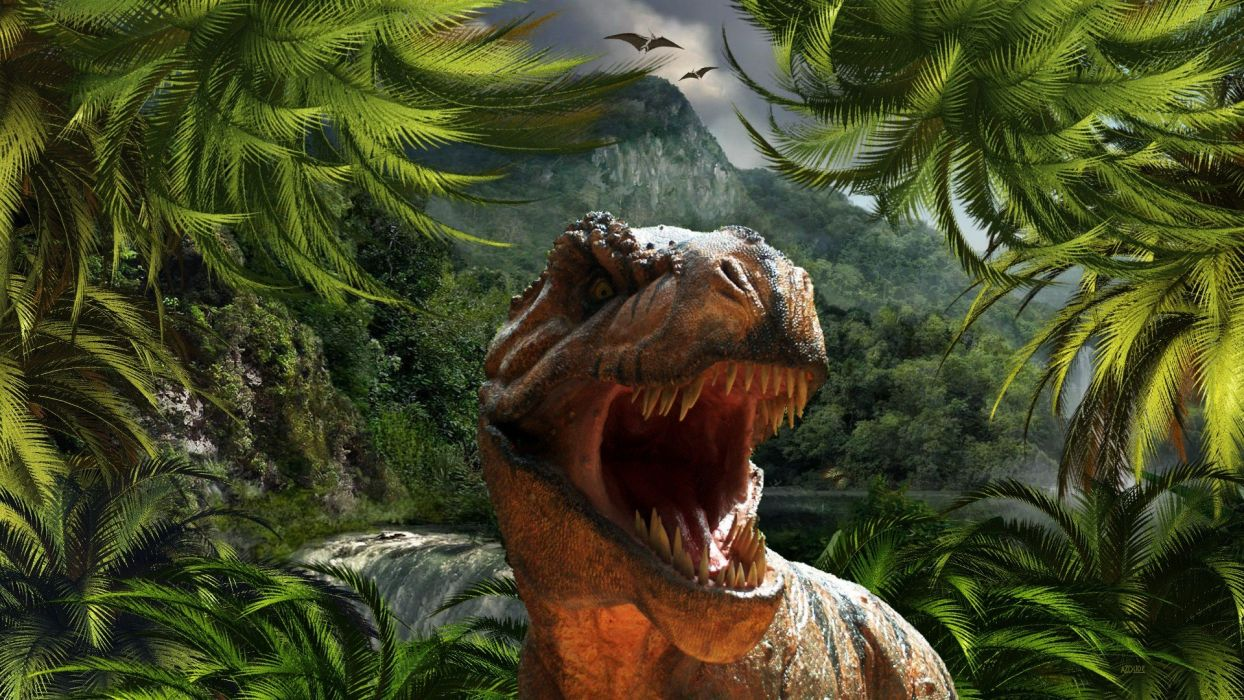JURASSIC PARK adventure sci-fi fantasy dinosaur movie film jungle dark wallpaper