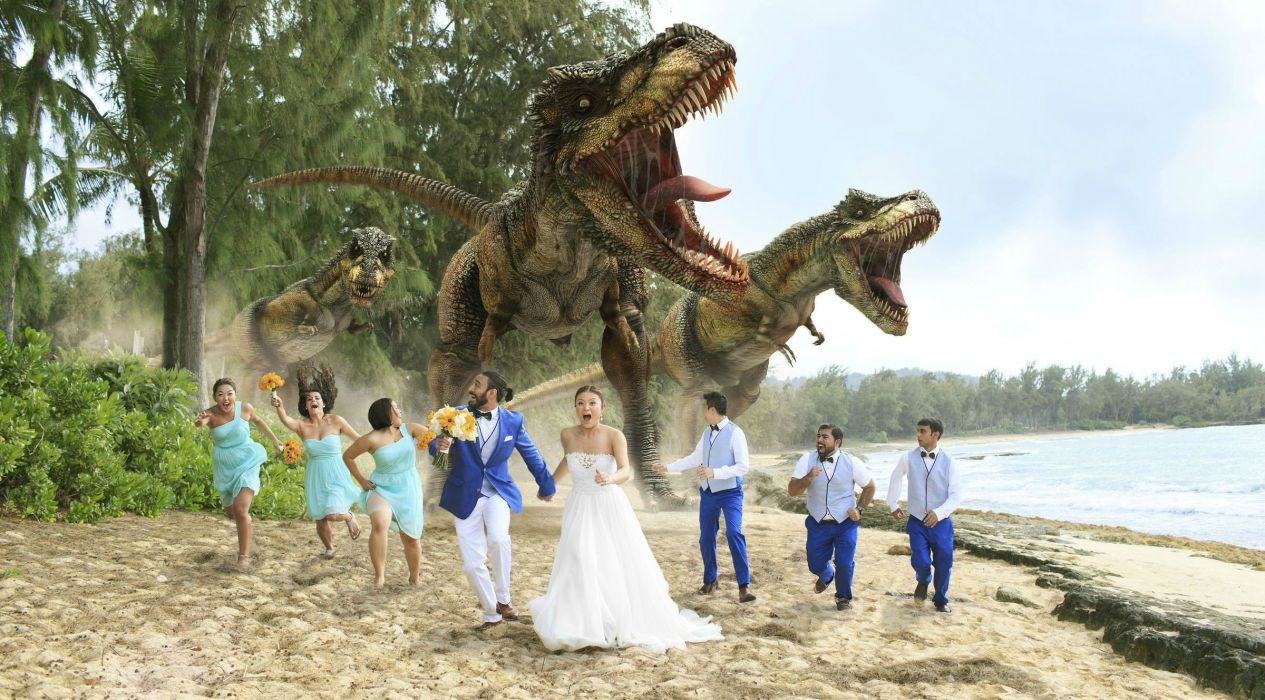 dventure sci-fi fantasy dinosaur dark funny humor wedding bride wallpaper