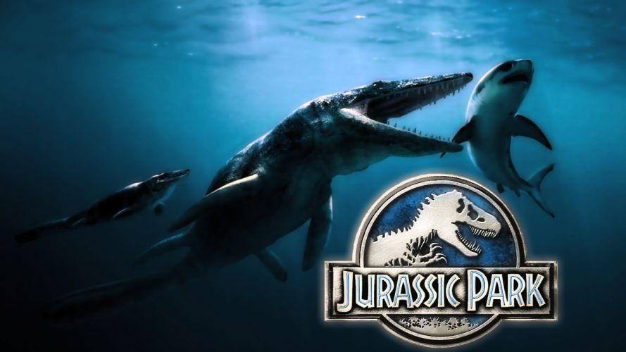JURASSIC PARK adventure sci-fi fantasy dinosaur movie film poster underwater ocean poster underwater wallpaper