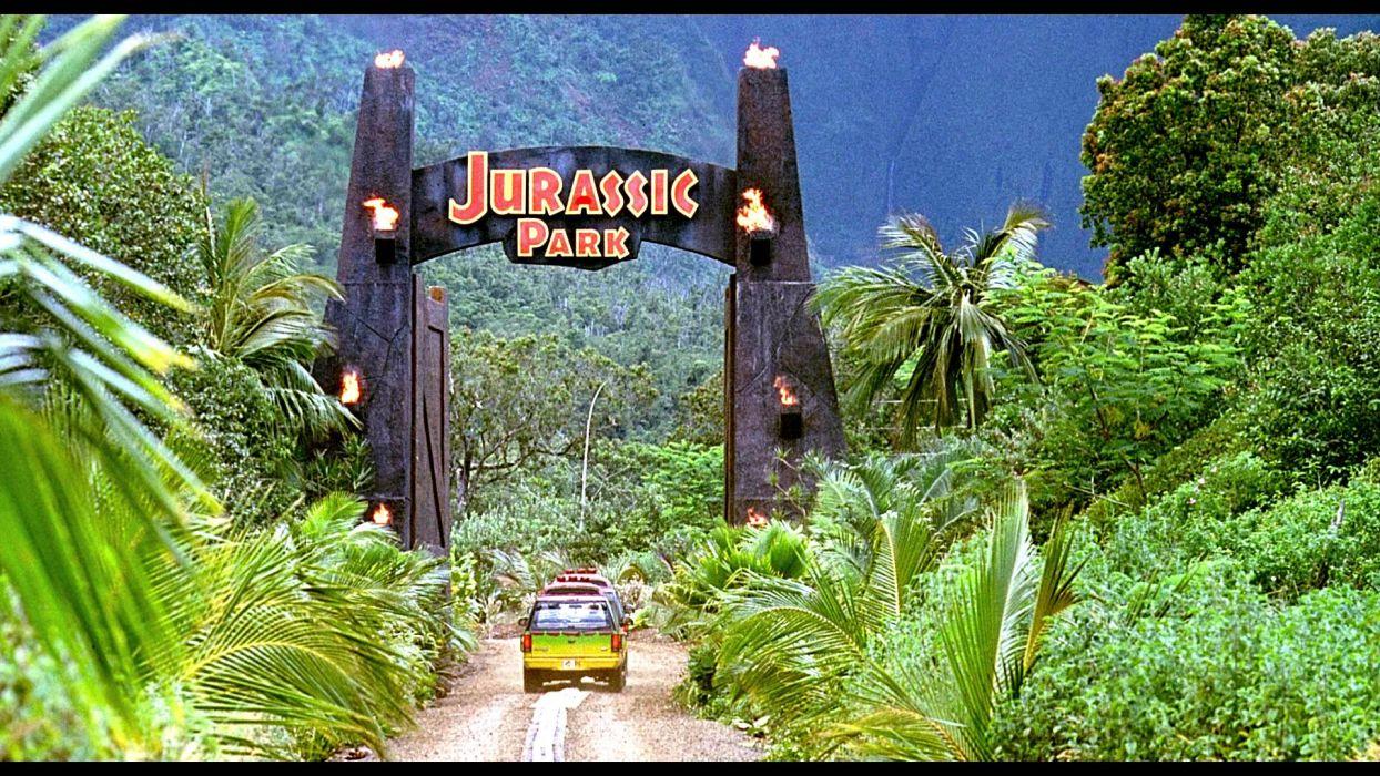 JURASSIC PARK adventure sci-fi fantasy dinosaur movie film jungle forest wallpaper