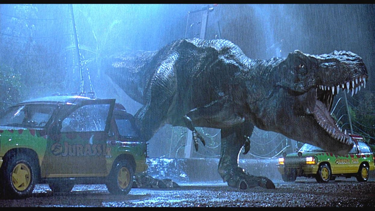 JURASSIC PARK adventure sci-fi fantasy dinosaur movie film rain wallpaper