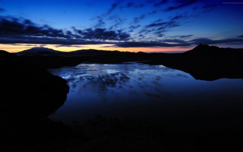 mountain nature landscape rock tree sunset green lake reflection hd ultrahd 4k wallpaper wallpaper