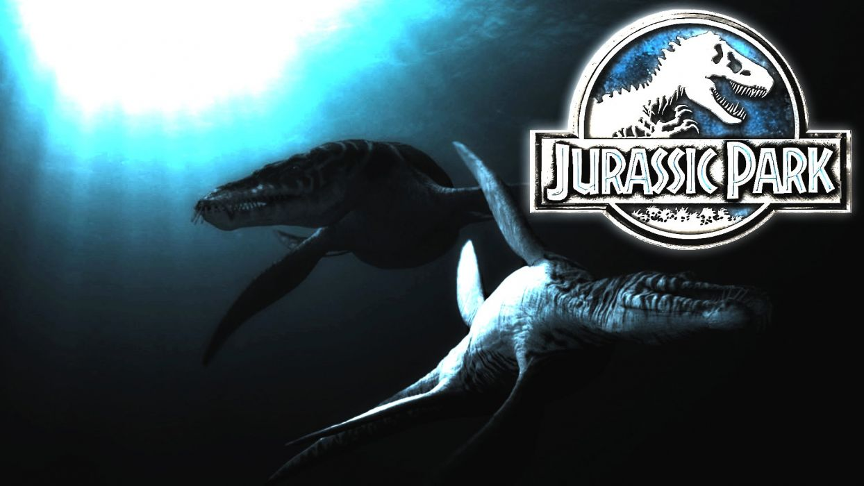 JURASSIC PARK adventure sci-fi fantasy dinosaur movie film poster underwater ocean wallpaper