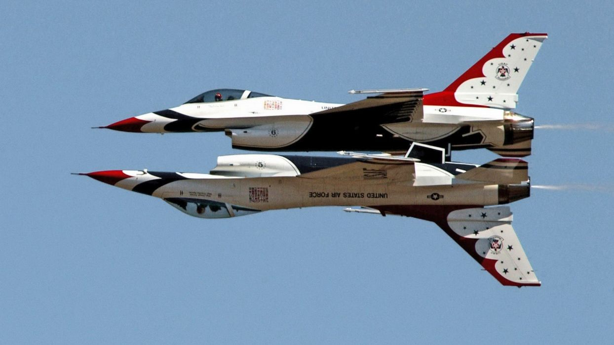 fighting United States Air Force F-16 Fighting Falcon Thunderbirds (squadron) wallpaper