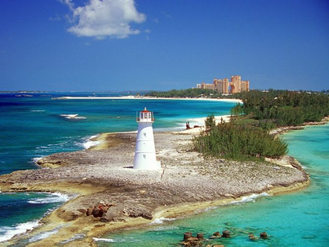landscapes lighthouses sea beaches wallpaper