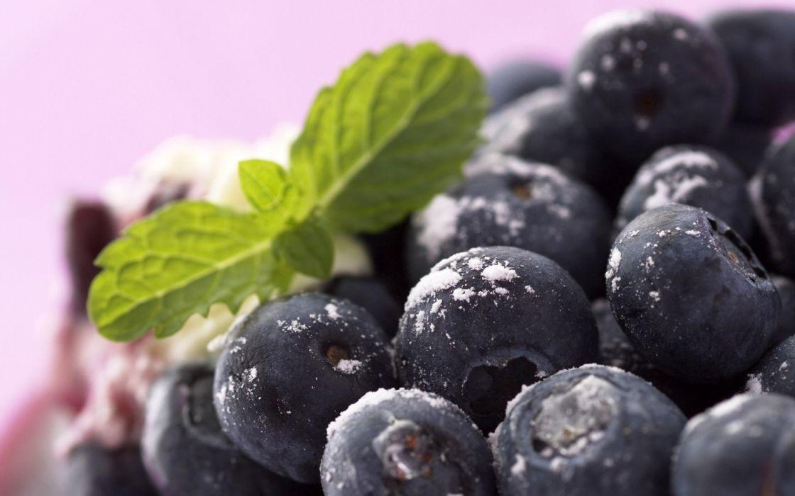 fruits food macro berries blueberries wallpaper