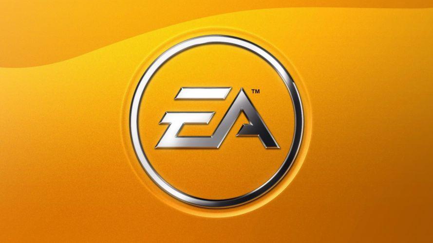 minimalistic EA Games yellow background wallpaper
