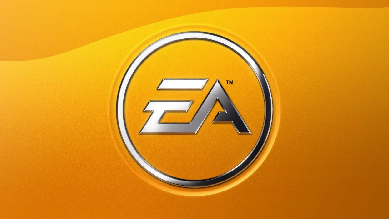 minimalistic EA Games yellow background wallpaper