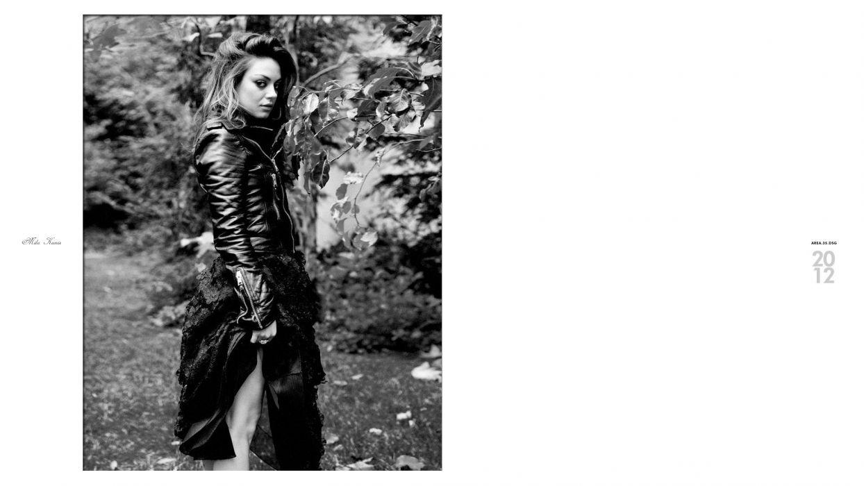 women black and white Mila Kunis models monochrome faces wallpaper