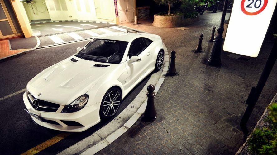 streets cars Mercedes-Benz black series Mercedes Benz SL65 AMG SL65 AMG wallpaper