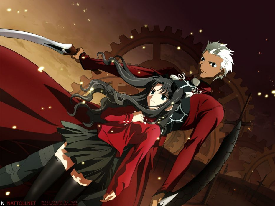 Fate/Stay Night Tohsaka Rin Type-Moon Archer (Fate/Stay Night) Fate series wallpaper