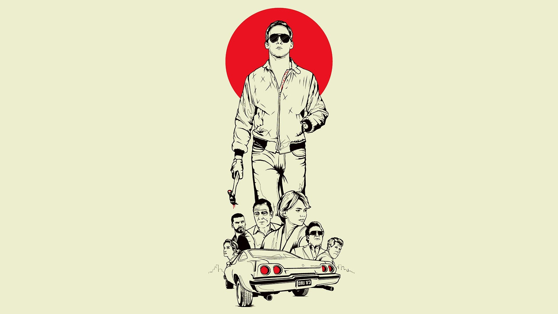 Movies drive Ryan Gosling fan art Drive (movie) wallpaper   1920x1080 ...