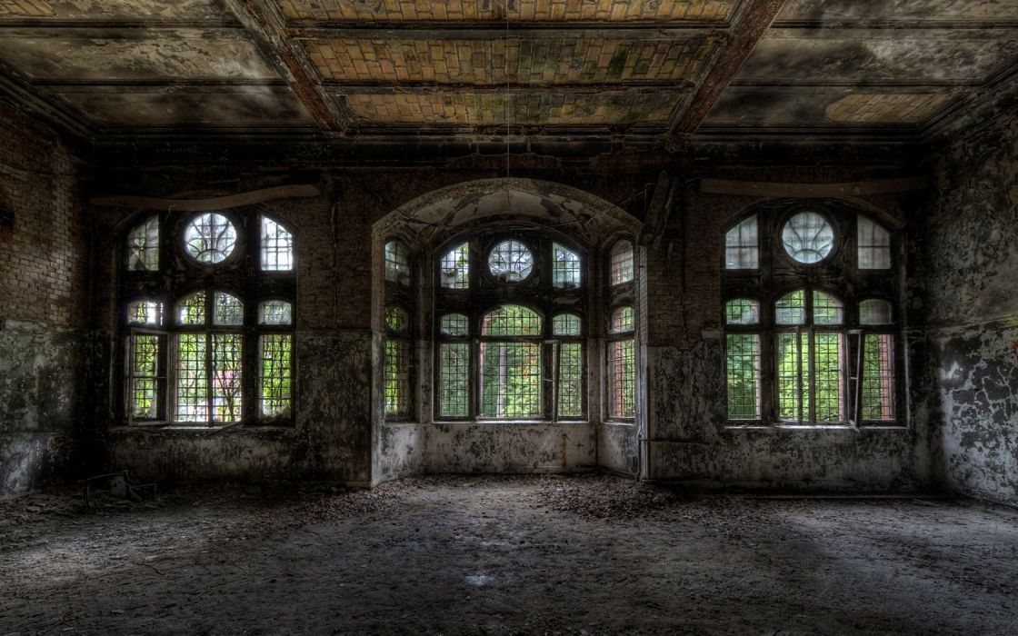 HDR photography old buildings wallpaper