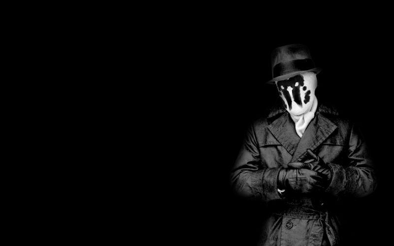 Watchmen Rorschach grayscale monochrome wallpaper