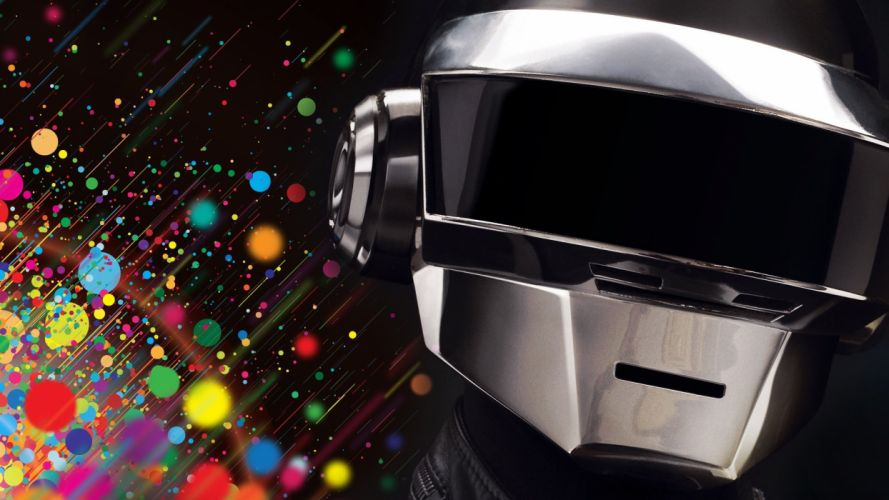 music multicolor Daft Punk wallpaper