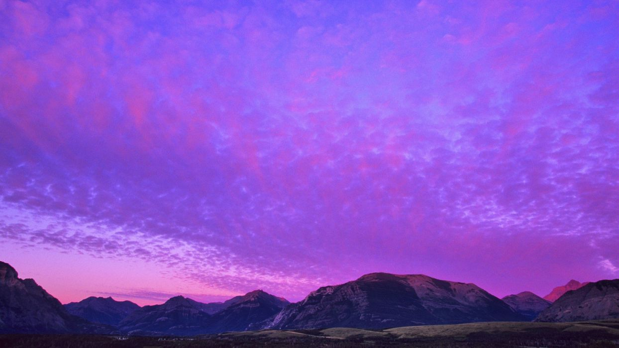 sunrise mountains rocks Alberta lakes National Park wallpaper