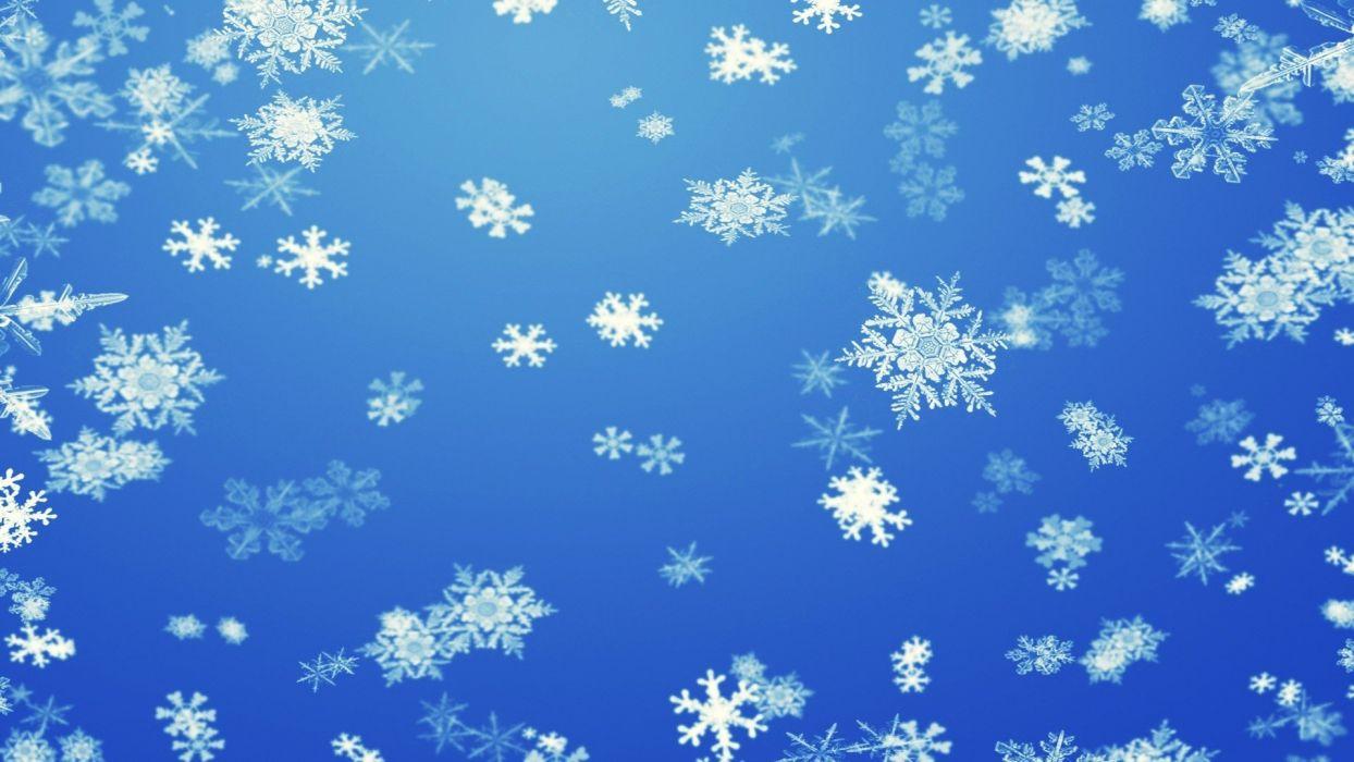 winter snow snowflakes artwork wallpaper
