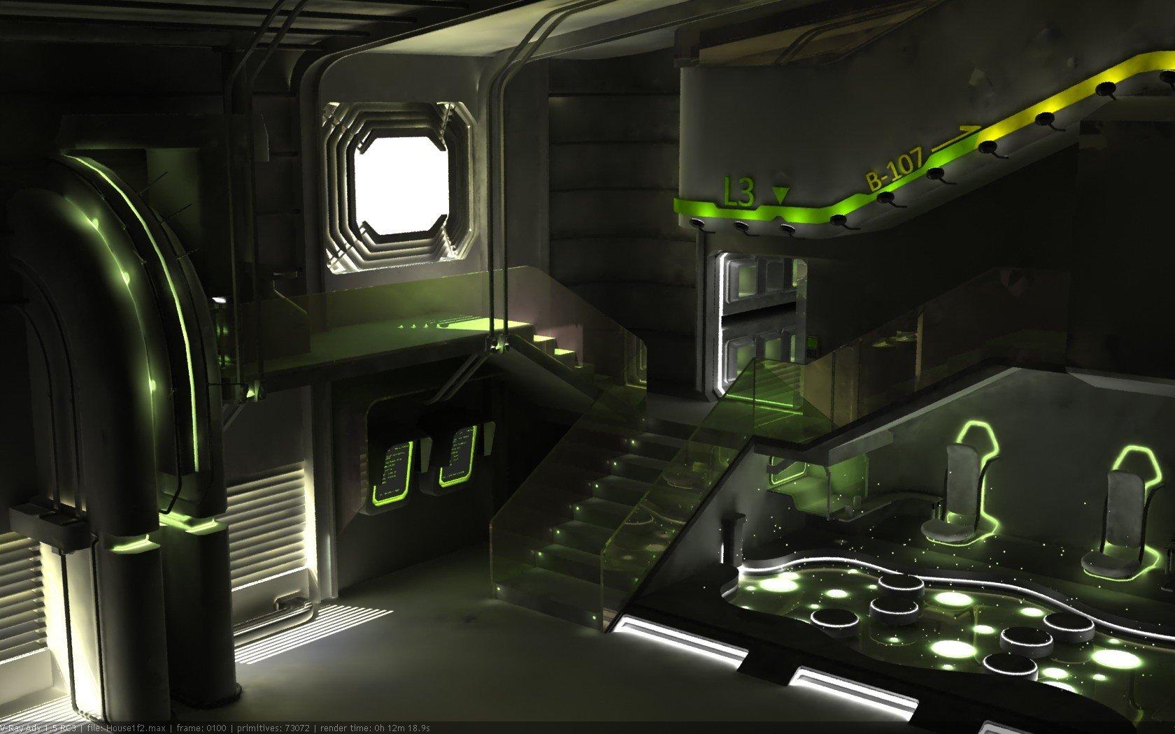 Artwork 3d Renders Laboratory 3ds Max Wallpaper