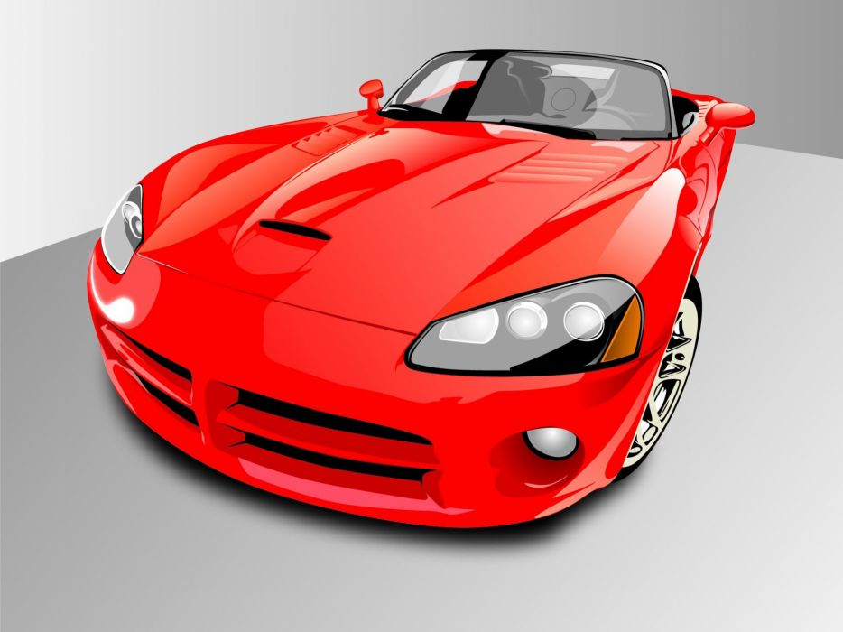 red cars Dodge Dodge Viper SRT-10 wallpaper