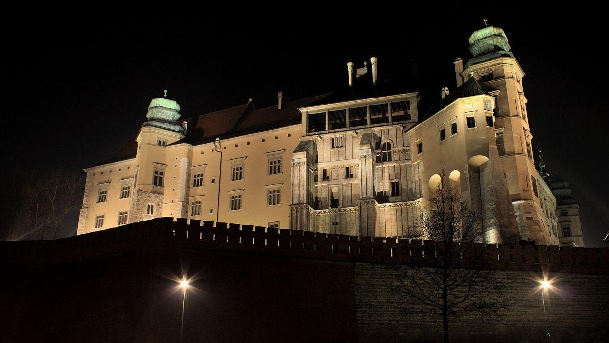 night Poland Cracow KrakAIA wallpaper