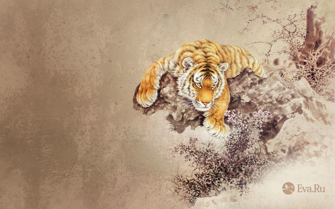 abstract animals tigers wallpaper
