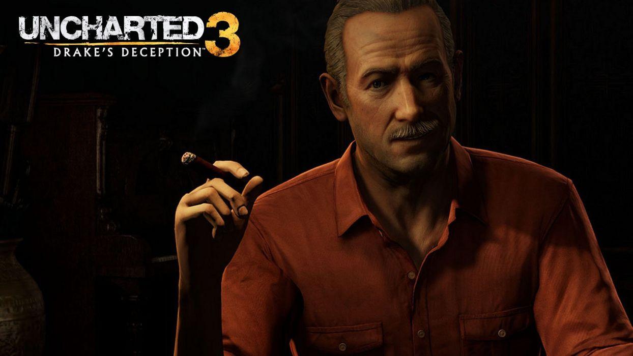 video games Uncharted Uncharted 3 Victor Sullivan wallpaper
