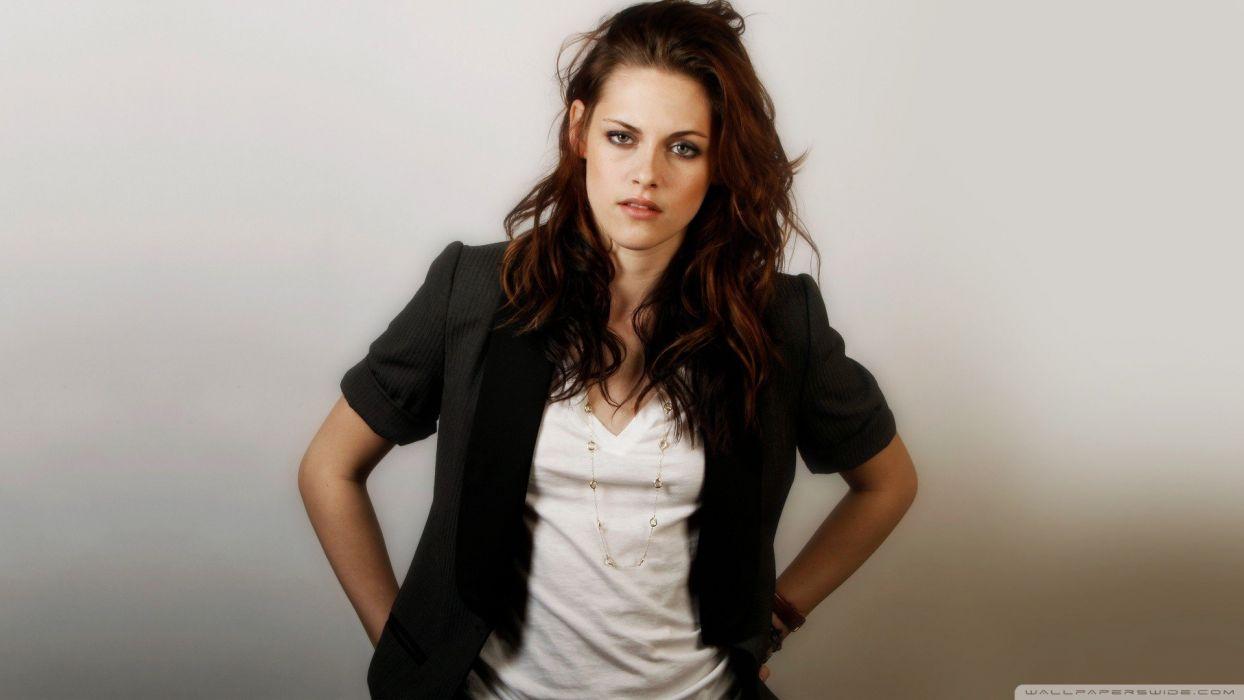 brunettes women Kristen Stewart actress celebrity wallpaper
