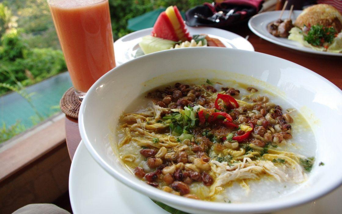 food drinks soup bali bubur ayam porridge wallpaper