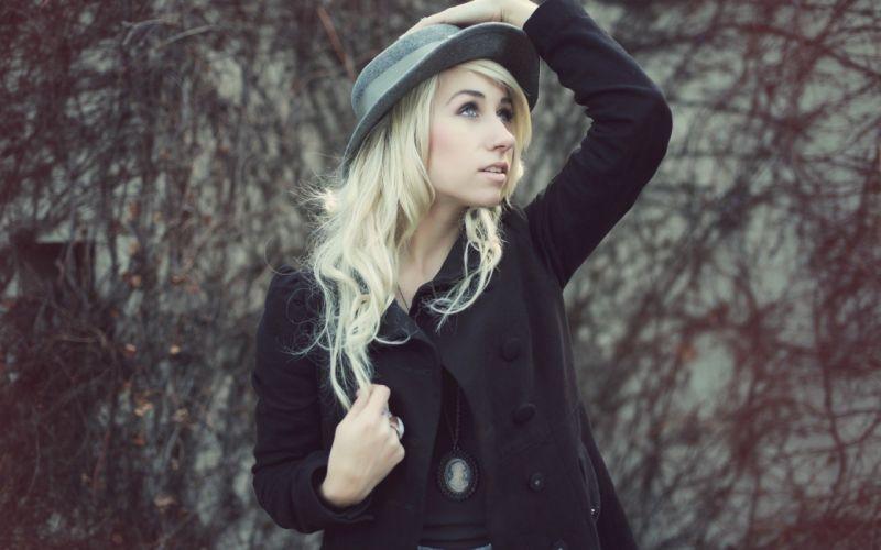 blondes outdoors hats pierced nose wallpaper