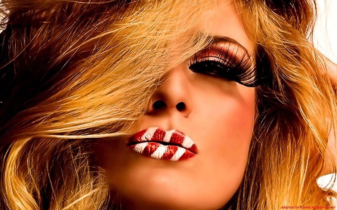 blondes women faces wallpaper