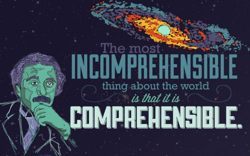 science outer space typography Albert Einstein artwork scientists wallpaper