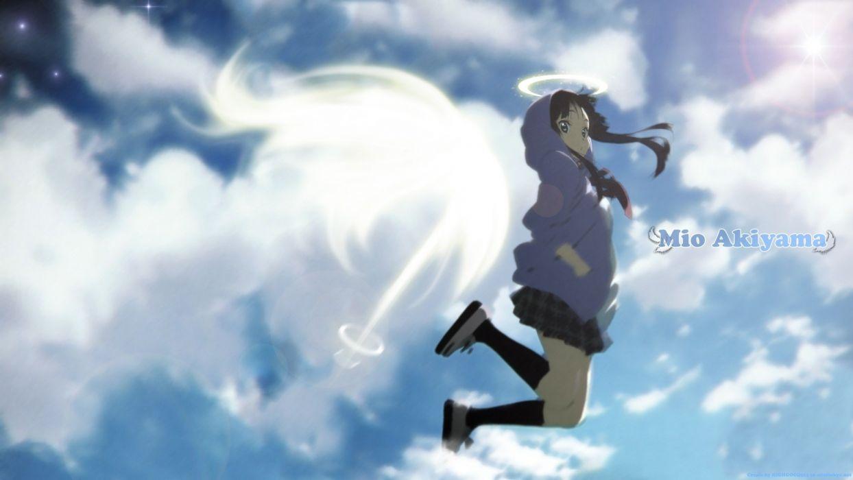 K-ON! Akiyama Mio anime skies wallpaper