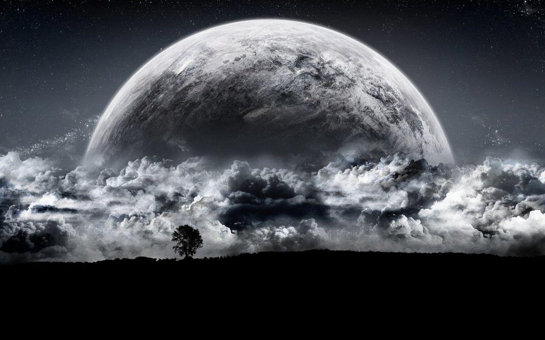 night Moon luna media wallpaper