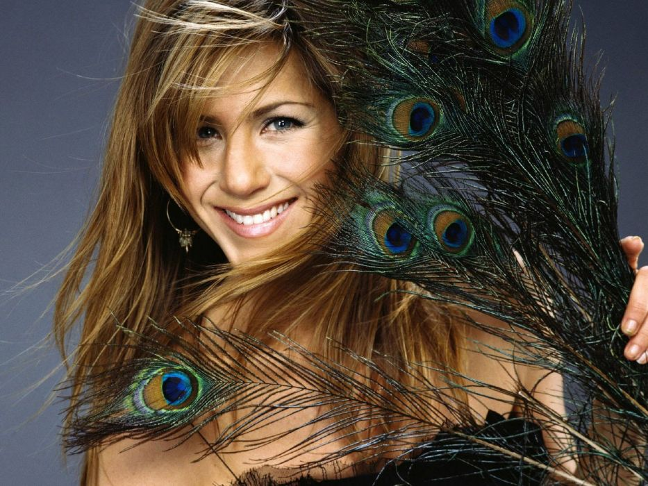 brunettes women actress Jennifer Aniston celebrity smiling expressionism wallpaper