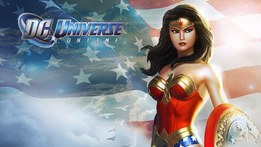 video games DC Comics DC Universe Online Wonder Woman wallpaper