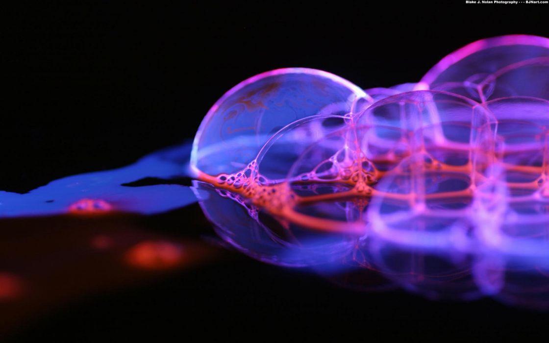 close-up bubbles macro wallpaper