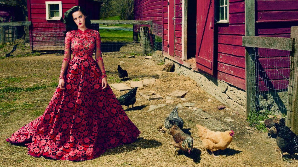 women Katy Perry models wallpaper