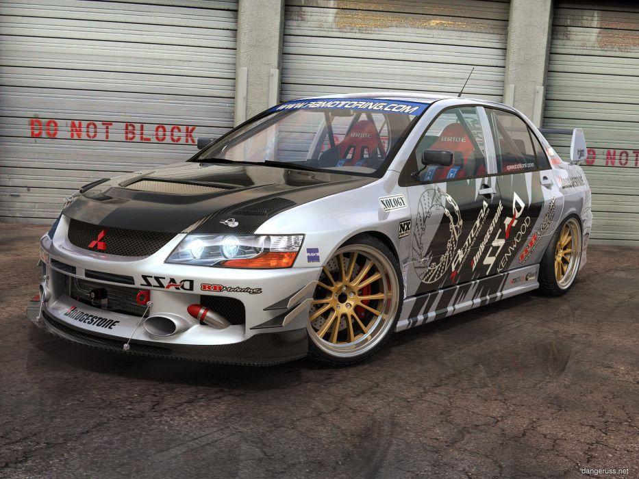 vehicles Mitsubishi Lancer Evolution wallpaper