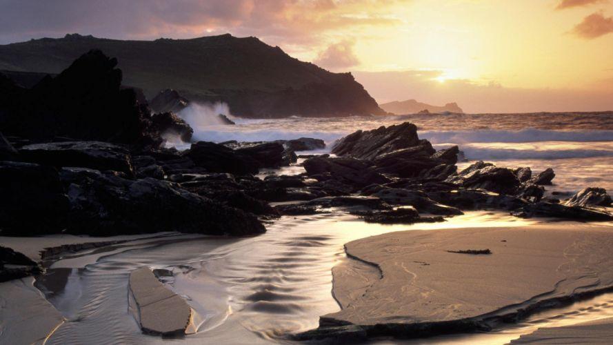 head Ireland beaches wallpaper